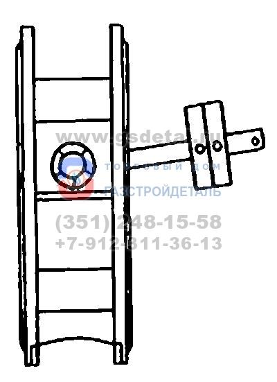 Клапан обратный поворотный межфланцевый чугунный 19ч21бр