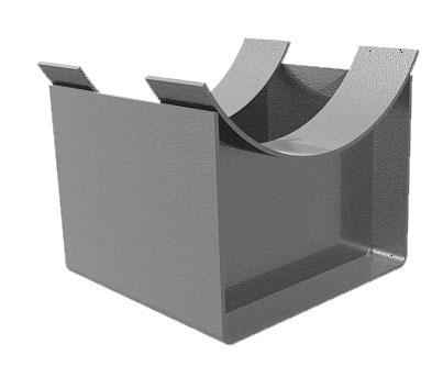 Опора скользящая для стропил открытая 2 мм KUCIS 160х40 мм цинк СибрТех 46542